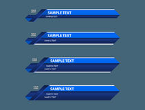 Troisième bannières inférieures bleues Image libre de droits