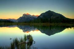 Troisième lac vermeil photo libre de droits