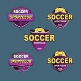 Troisième logo inférieur pourpre de bannière Photographie stock