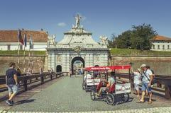Troisième porte d'Alba Carolina Citadel photographie stock libre de droits