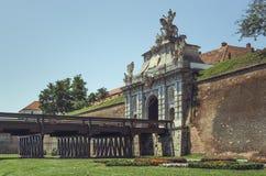 Troisième porte d'Alba Carolina Fortress photo stock