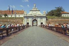 Troisième porte de la ville en Alba Carolina Citadel photos libres de droits