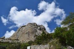 Troisièmement de la plus grande montagne du monde photos stock