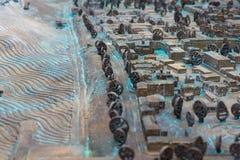 ?troitement : Vieux plan de ville tridimensionnel images stock
