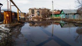 Troitsk-Stadt abadoned Stockfotografie