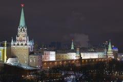 Troitskaya (Drievuldigheid) toren van Moskou het Kremlin Stock Foto