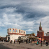 Troitskaya en Kutafya-Toren van Moskou het Kremlin Royalty-vrije Stock Foto's