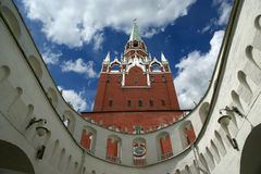 Troitskaya Tower and Kutafia (bridgehead) tower, Moscow Kremlin Royalty Free Stock Images
