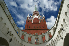 Troitskaya Tower and Kutafia (bridgehead) tower, Moscow Kremlin Royalty Free Stock Photos