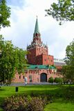 Troitskaya Tower of Moscow Kremlin Stock Photo