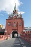 Troitskaya Tower Moscow Kremlin Stock Photography