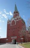 Troitskaya Tower Moscow Kremlin Royalty Free Stock Photos