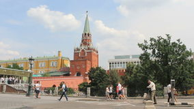 Troitskaya Tower of Moscow Kremlin. Russia stock video
