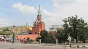 Troitskaya Tower of Moscow Kremlin Stock Photography
