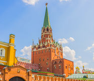 Troitskaya (Trinity) Tower in the Moscow Kremlin Stock Photography