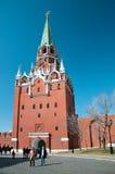 Troitskaytoren van Moskou het Kremlin, Rusland Royalty-vrije Stock Foto
