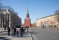 Troitskaytoren van Moskou het Kremlin, Rusland Royalty-vrije Stock Afbeeldingen