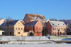 Troitskoye suburb in winter Stock Photo