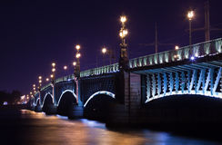 Troitsky Bridge Royalty Free Stock Photo