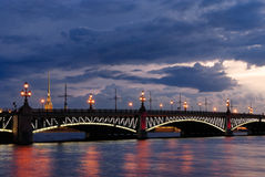 Troitsky bridge in Saint-Petersburg Royalty Free Stock Photography