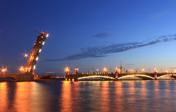 Troitsky bridge, Saint Petersburg ,Russia Royalty Free Stock Image