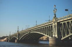 Troitsky drawbridge. Royalty Free Stock Photos