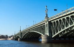 Troitsky drawbridge. Stock Images