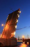 Troitsky most, święty Petersburg, Rosja Fotografia Stock