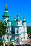 Troitskyi monaster od wzrosta ptasi ` s lot w Chernihiv zdjęcie stock