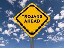 Trojańczyków naprzód znak fotografia stock