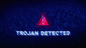 Trojańczyk Wykrywająca teksta Cyfrowego hałasu drgania usterki wykoślawienia skutka błędu animacja ilustracji