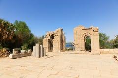 Trojański ` s kiosk przy świątynią Isis - Aswan, Egipt obrazy royalty free