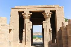 Trojański ` s kiosk przy świątynią Isis - Aswan, Egipt zdjęcie royalty free