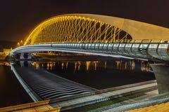 Troja-Brücke nachts Lizenzfreies Stockfoto
