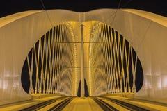 Troja-Brücke nachts Stockbilder