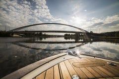 Troja-Brücke, Trojsky höchst, Prag Lizenzfreie Stockfotografie