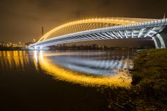 Troja Bridge, Trojsky most, Prague Stock Photos