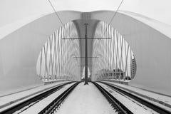 Troja bro, Prague stad modern arkitekturdetalj abstrakt arkitekturbakgrund Royaltyfri Bild