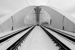Troja bro, Prague stad modern arkitekturdetalj abstrakt arkitekturbakgrund Arkivbilder