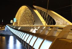 Troja bro, Trojsky mest, Prague, Tjeckien Arkivbilder