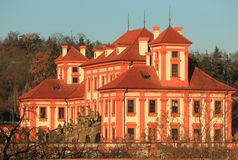 Troja chateau Stock Images