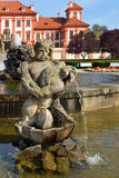 Troja Chateau, fountain and garden Royalty Free Stock Photography