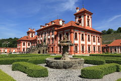 Troja Palace is a Baroque palace located in Troja, Prague's north-west borough (Czech Republic). Royalty Free Stock Image