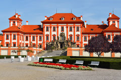 Troja Palace is Baroque palace in Prague Stock Photography