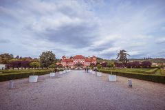 Troja Palace and Garden in Summer in Prague, Czech Republic royalty free stock photos