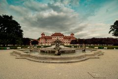 Troja Palace and Garden in Summer in Prague, Czech Republic royalty free stock image