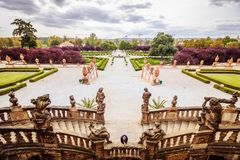 Troja Palace and Garden in Summer in Prague, Czech Republic stock images