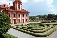 Troja Palace and garden Royalty Free Stock Photography