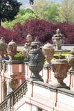 Troja Palace , mythical terracotta vases ,Prague, Czech Republic. PRAGUE, CZECH REPUBLIC- MAY 03, 2017:Troja Palace , mythical terracotta vases. It is a Baroque Stock Photography