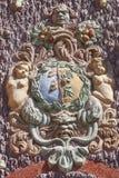 Troja Palace, relief on surrounding wall , Prague, Czech Republic Stock Image